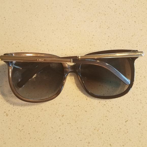 3f322bee01a6 Gorgeous Chloe Brown Metallic Sunglasses. Chloe.  M 5b5109d7c2e9fef383da7770. M 5b5109df12cd4a2ff86a8b6a